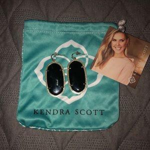 Kendra Scott Black Gold Danielle earrings
